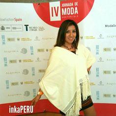 Moda inkaPERU en la IV Jornada de Moda Sotenible #Moda #ModaSostenible #ModaSostenibleMT #Fashion #Chal #HechoaAno #Handmade #ModaNatural