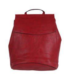 Buy Red plain backpacks backpack online