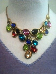 Necklace set | The necklace has matching earrings in the yellow color. | Primary View | SISTERS