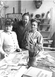 Helena Rubenstein, Frida Kahlo & Diego Rivera