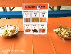 An educational twist on Halloween Boo Mix! Add numbers to the directions and have the kids count and create their own snack!
