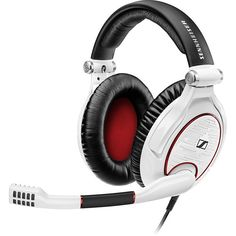 (*** http://BubbleCraze.org - Hot New FREE Android/iPhone Game ***)  Sennheiser Game Zero Pc Gaming Headset (270 CAD) ❤ liked on Polyvore featuring white