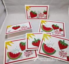 Stamp & Scrap with Frenchie: Video Punch Art Watermelon and strawberries