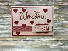Welcome  Ich habe ein neues Team-Mitglied - liebe Maria herzlich willkommen. Und was macht eine Stampin' up! Demonstrateuse die sich sehr darüber freut eine neue Downline zu haben: sie bastelt eine Karte. Kann nicht wirklich überraschen oder?   Aber ich habe hier noch eine überraschende Materialliste:  Downline Team Welcome