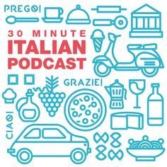 Boost your confidence in speaking Italian in 30 minutes or less with the 30 Minute Italian Podcast. We cover expressions, sometimes sexy grammar, and culture through personal travel stories and detailed examples. Italian Grammar, Italian Vocabulary, Italian Phrases, Italian Words, Italian News, Italian People, Italian Logo, Basic Italian, Learn French
