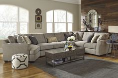Pantomine Driftwood Sectional w/Right Facing Cuddler. | Living ...