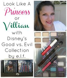 Look Like A Princess or Villian With Disney's Good vs. Evil Make Up Collection by e.l.f. following this easy video tutorial #Maleficent #SleepingBeauty #spon #DisneyInHomeEvent