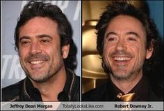 Jeffrey Dean Morgan and Robert Downey Jr. I've never been that crazy about Robert Downey Jr., but Jeffrey Dean is yummy!! I wouldn't mind curling up to him one night! Or a few nights! LOL!