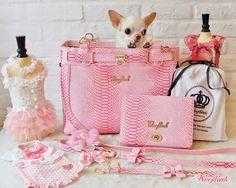 WOOFLINK - Hip designer dog clothes: GLAM BAG ♥ PINK