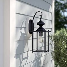 Beautiful Kalmar Outdoor Wall Lantern by Sol 72 Outdoor Lighting Home Decor Furniture from top store Outdoor Barn Lighting, Outdoor Hanging Lanterns, Outdoor Ceiling Fans, Outdoor Sconces, Outdoor Wall Lantern, Porch Lighting, Wall Sconce Lighting, Outdoor Walls, Candle Sconces