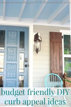 Budget friendly curb appeal ideas from thespacebetweenblog.net for Remodelaholic.com