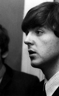 Paul McCartney  backstage at the Regal Cinema, Cambridge on 26th November 1963