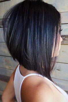 Inverted Bob Hairstyles, Short Hairstyles For Thick Hair, Long Bob Haircuts, Short Straight Hair, Diy Hairstyles, Haircut Short, Haircut Bob, Haircut Style, Layered Hairstyles