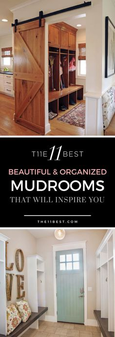 Amazing mudrooms! I want them all!!!!