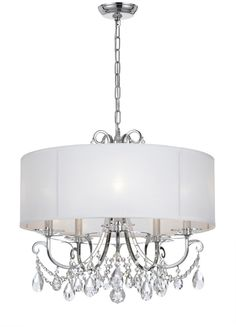 Crystorama Lighting Group Polished Chrome Othello 5 Light Wide Chandelier with Clear Hand Cut Crystals Chandelier Bedroom, 5 Light Chandelier, Pendant Lighting, Lantern Lighting, Country Chandelier, House Lighting, Light Pendant, Kitchen Lighting, Ceiling Fixtures