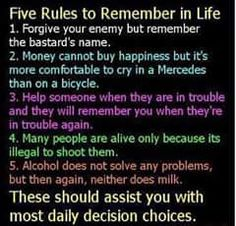 How to live happily.