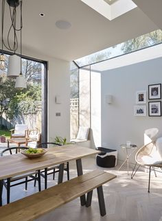 Structural glazing and window seat in extension to a Victorian terrace – Home Renovation House Extension Design, Extension Designs, House Design, House Extension Plans, Open Plan Kitchen Living Room, Open Plan Living, Kitchen Reno, Kitchen Ideas, Home Renovation