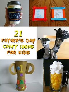 21 Father's Day Craft Ideas for Kids Preschool Crafts, Fun Crafts, Holiday Crafts, Holiday Fun, Children's Church Crafts, Daddy Day, Fathers Day Crafts, Daddy Gifts, Grandparents Day