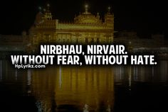 Without fear, without hate. Sikh morals a moral i live on Sikh Quotes, Gurbani Quotes, Punjabi Quotes, Hindi Quotes, Quotations, Qoutes, Guru Granth Sahib Quotes, Jokes In Hindi, Word Tattoos