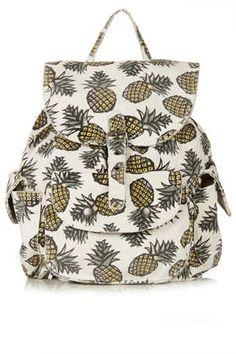 Sac à dos à motifs ananas - Sacs à dos - Sacs et porte-monnaie - Sacs et accessoires