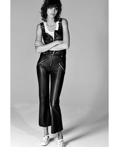 Image 1 of SHORT LEATHER STUDIO JUMPSUIT from Zara