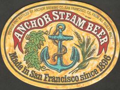 Anchor Brewing - Anchor Steam Beer - San Francisco CA Brewing Co, Dock Of The Bay, Coaster Art, Hot Steam, Artist Loft, Beer Coasters, Boat Stuff, San Fransisco, Root Beer