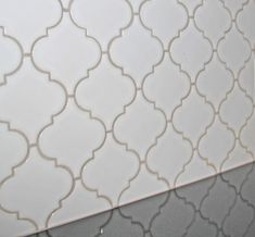 Best White Arabesque Tile With Three Different Colors Of Grout 400 x 300