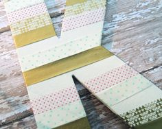 Washi Tape Decorated Chipboard Letter
