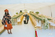 #shweshwe #hlubibride #green #drapedtent #gold #traditionalwedding Wedding Ceremony Decorations, Wedding Reception, Our Wedding, Dream Wedding, Reception Ideas, Wedding Ideas, African Wedding Dress, Wedding Dresses, Xhosa Attire
