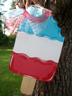 Popsicle Door hanger Summer Door Hanger July by BluePickleDesigns, $35.00