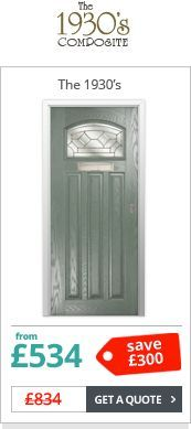 Our Edwardian style composite front door is perfect for retaining the character of original timber doors. If your original door is looking a little tired or draughty this is the perfect solution. Front Door Porch, Porch Doors, House Front Door, Back Doors, Modern Entrance Door, Entrance Doors, 1930s Doors, 1930s House Interior, Traditional Front Doors