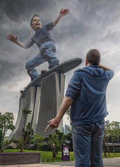 Dad photoshop son into crazy photos using digital manipulation - 3