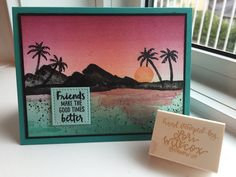 Stampin' Up! Waterfront highlighting the ink colours in the Picture Perfect Party Classic Stampin' Spots