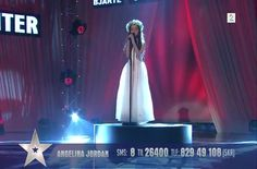 "Eight-year-old Angelina Jordan performs Cher's 1966 hit, ""Bang Bang,"" on ""Norway's Got Talent""."