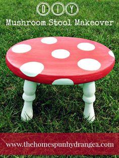 DIY MUSHROOM STOOL MAKEOVERkids