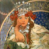 Starred Tiara - Alphonse Mucha