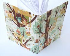 cuadernos hechos a mano forrados en tela