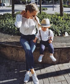 Yay or Nay? Mom And Son Outfits, Matching Family Outfits, Baby Boy Outfits, Kids Outfits, Cute Outfits, Toddler Boy Fashion, Little Boy Fashion, Kids Fashion, Mommy And Son