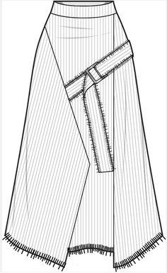 Fashion Design Classes, Fashion Design Portfolio, Fashion Design Sketches, Flat Drawings, Flat Sketches, Technical Drawings, Fashion Design Template, Fashion Templates, Fashion Drawing Dresses