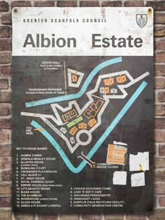 A useful map of the Albion Estate - Scarfolk Council Council Estate, House Names, Ladybird Books, The Far Side, Twisted Humor, Cartography, North West, Funny Pictures, Signs