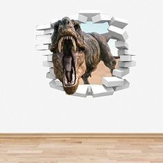 Dinosaur Wall Decal Wall Stickers Full Colour D Dinosaur TRex - 3d dinosaur wall decals