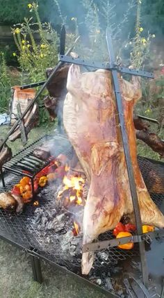 Lamb cooking on an asado with real fire for by Fabulous BBQ. We are experts in BBQ's for events and parties. We add true food theater and research world BBQ techniques to bring you a unique BBQ food experience Pit Bbq, Barbecue Grill, Restaurant Barbecue, Fire Pit Grill, Grilling, Outdoor Oven, Outdoor Cooking, Camping Cooking, Backyard Kitchen