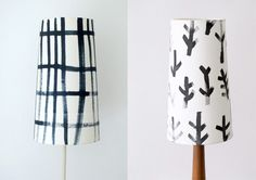 Debbie Powell hand painted lampshades