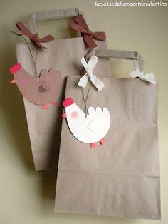 Idea per embolicar l'àlbum del 2on trimestre amb un conillet o pollet de la mona de Pasqua.