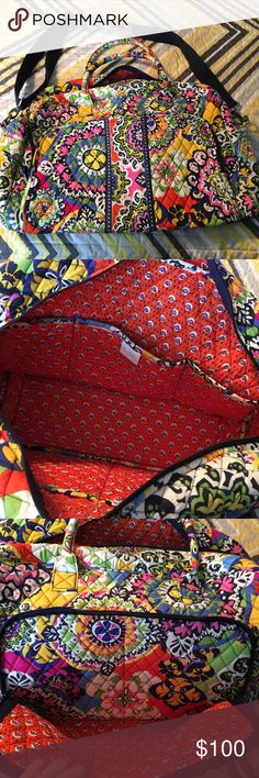 Vera Bradley Weekender bag. Rio. Like new. Pet friendly home. Been stored in a tote for years. No damage. Vera Bradley Bags Travel Bags