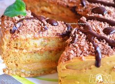 """Торт """"АПШЕРОН"""" Бисквитный торт со сгущенкой или заварным кремом"""