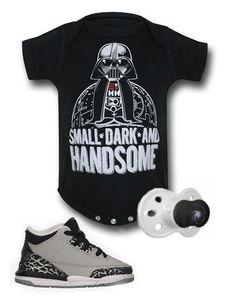 Star Wars inspired kids outfit by Mary Huth. Onesie: https://www.superherostuff.com/star-wars/infant-bodysuits/star-wars-darth-vader-infant-snapsuit.html?itemcd=infsnapstrwrsvdr&utm_source=pinterest&utm_medium=social&utm_campaign=featu