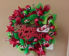 Vintage Merry Christmas sign wreath! I love this one! I'm On the fence whether I want to sell it or not!
