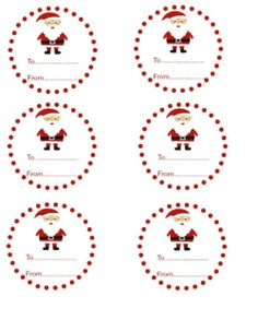 Santa Gift Tags -Santa Gift Tags.  Free to download. :)  sewlicioushomedecor.com   #santa #tags #printables