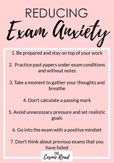 Exam anxiety is something that affects many students and stems from different things. Here are some of the reasons for exam nerves and how to tackle them.